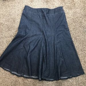 Sandro Sportswear dark denim skirt